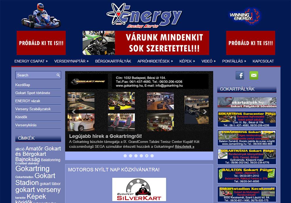 Weboldal készítés- gokart.hu