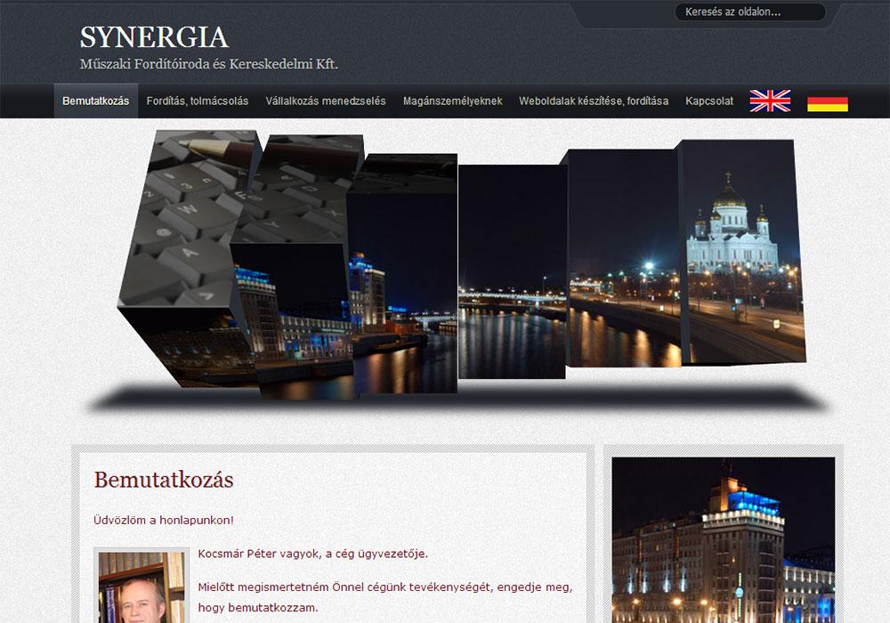 Weboldal készítés- synergia.hu