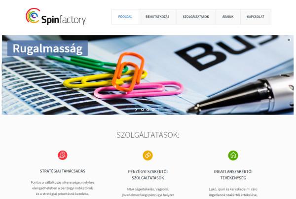 Weboldal készítés - spinfactory.hu