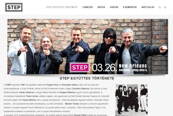 Weboldal készítés - stepgeyuttes.hu