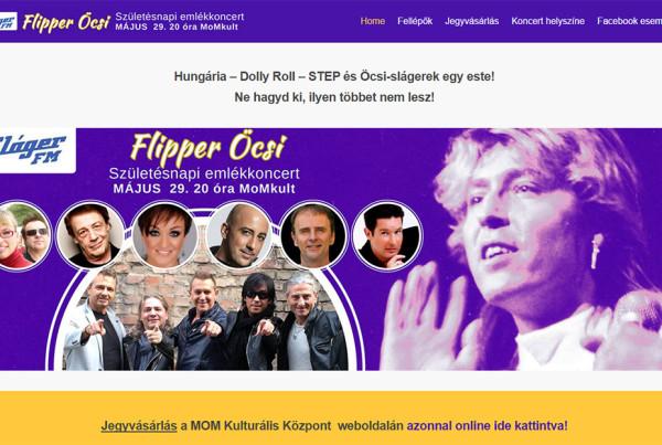 Weboldal készítés - flipperocsiemlekkoncert.stepegyuttes.hu